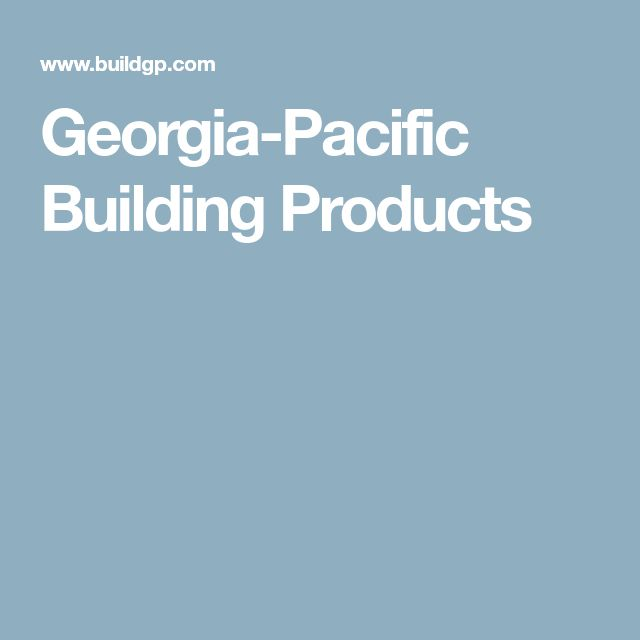 Georgia-Pacific Building Products