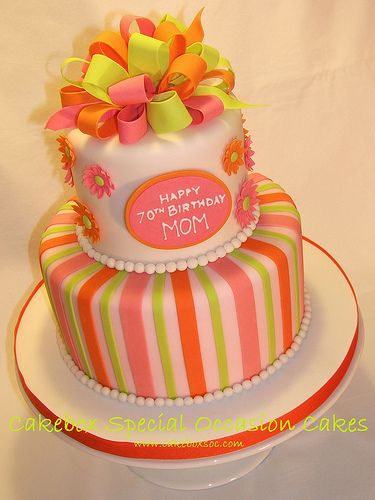 Mom S 70th Birthday Cake By Cakebox Special Occasion Cakes