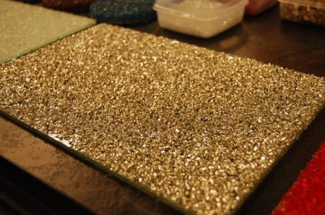 Diy crushed glass resin counter top table top decor for Crushed glass countertops