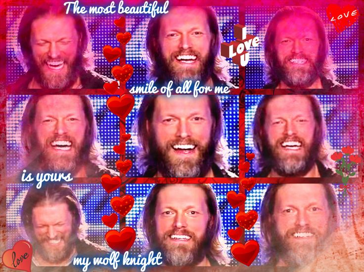 the most beautiful smile of all for me is yours my wolf knight