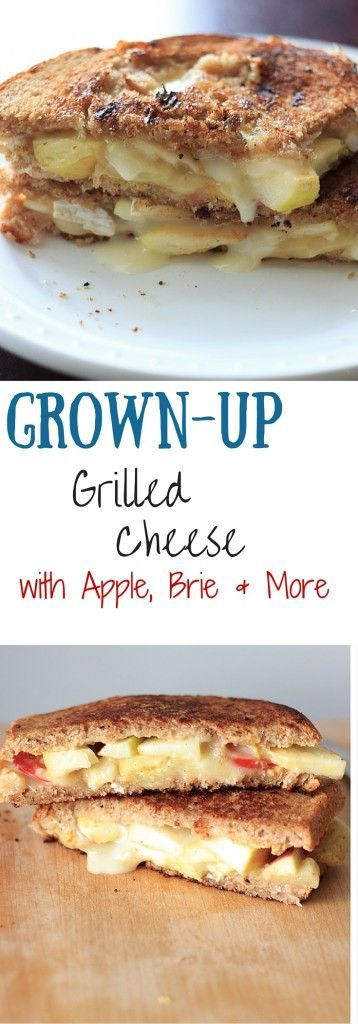 Grown up grilled cheese with two sauces, two types of cheese, and two ...