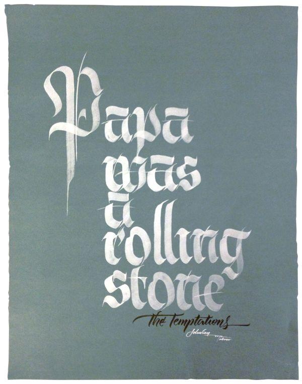 100% Calligraphy by Joluvian , via Behance