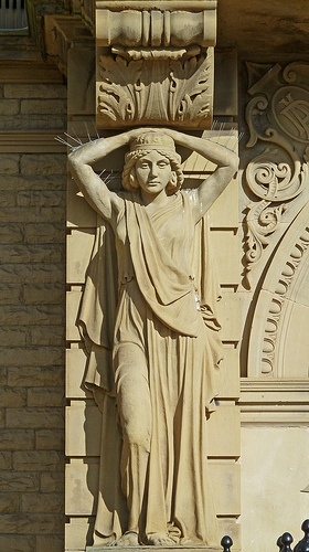 Caryatid at Ossett Town Hall