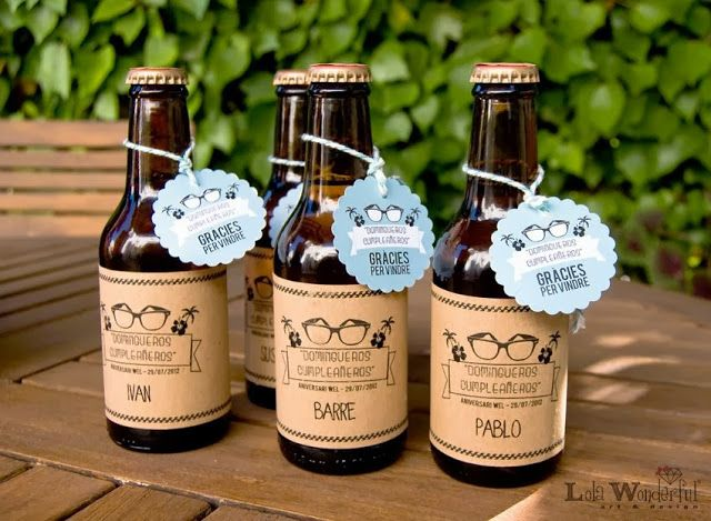 Cervezas personalizadas: fiestas