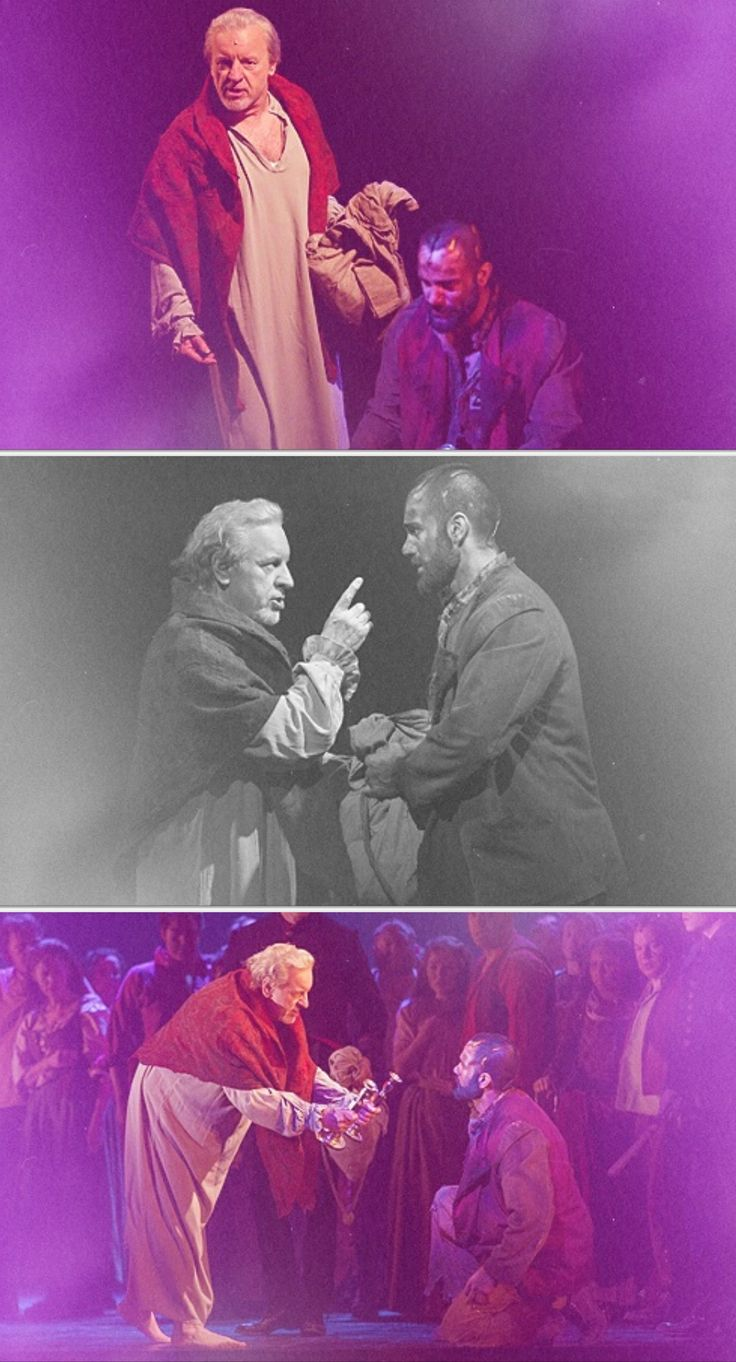 Ramin Karimloo and Colm Wilkinson in Les Miserables.