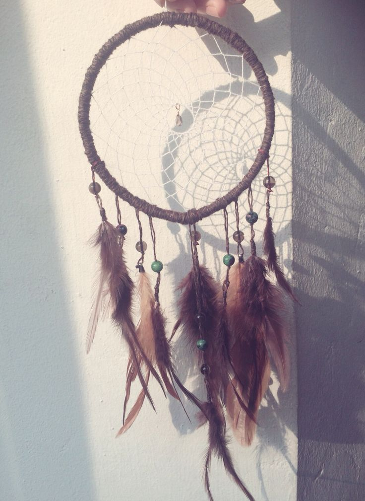 Dream catcher / brown / smoky quartz / ruby in zoisite/ by So.