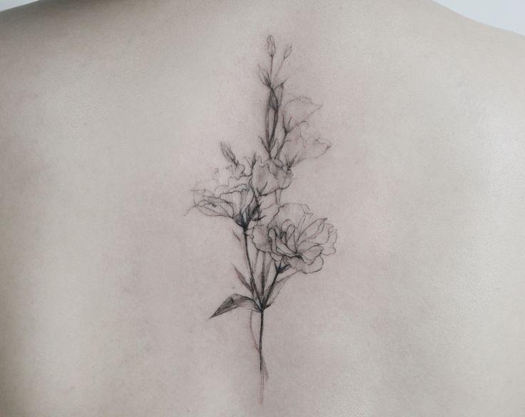 Lisianthus flowers tattoo