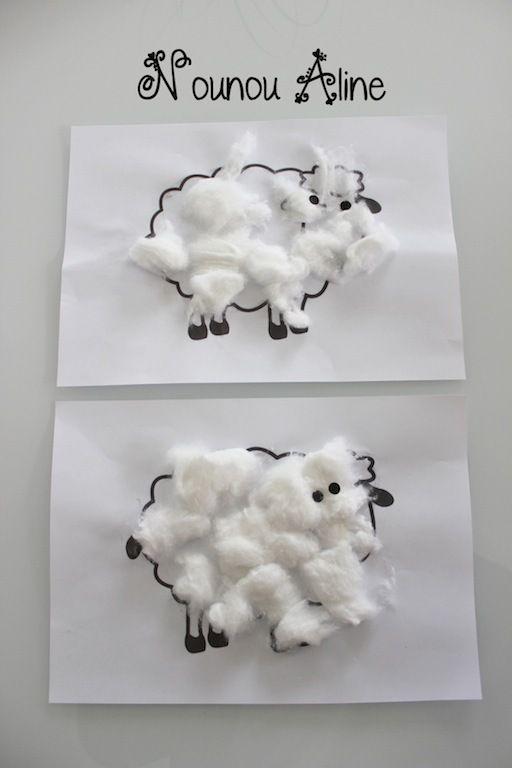 Des moutons en coton