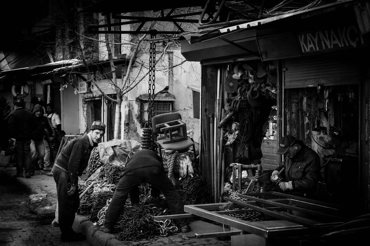Daily life at Karakoy Istanbul TURKEY