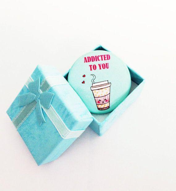 Kawaii Coffee Pinback Button: Cute coffee Pin, cute coffee button, coffee lover gift, Kawaii coffee Button, best friend gift, teacher gift by LoveNCreativity