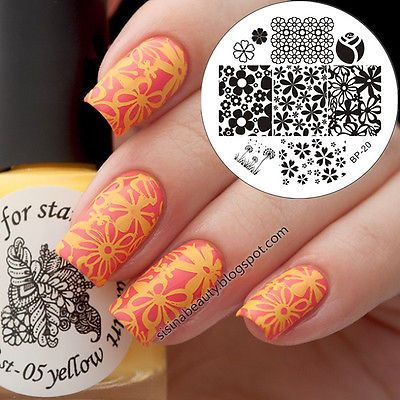 Nail Art Stamp Template Image Stamping Plates Manicure DIY BORN PRETTY #20