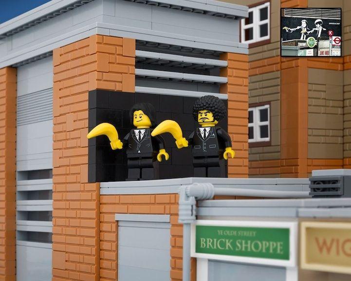 Banksy's Street Art Reimagined in LEGO - My Modern Met