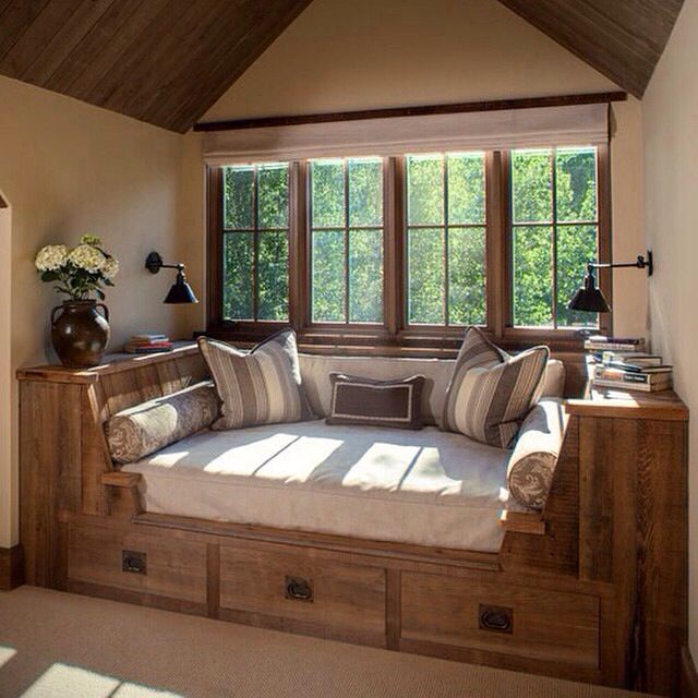 The perfect #bedroom for reading - especially if it's raining! #country #rustic