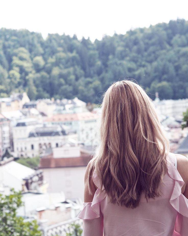 What a view #karlovyvary #carlsbad #czech #czechrepublic #czechgirl #girl #blonde #blondie #l4l #like4like #likeforlike #pictureoftheday #view #cityview #city #love #curlyhair