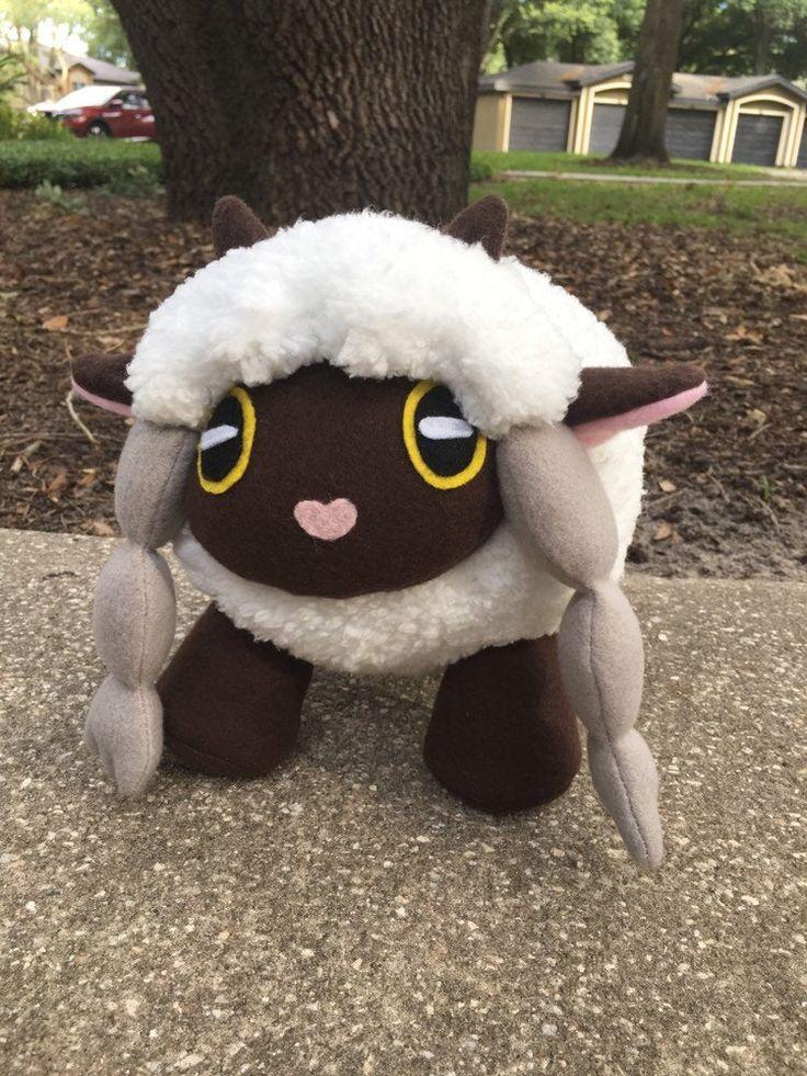 Wooloo Plush Medium Pokemon Stuffed Animal Sword and