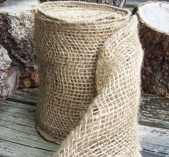 Rustic Woven Burlap Ribbon  Great used in your Rustic by GoRustic, $7.99