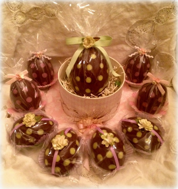 Happy Easter! Show and Tell ~ Homemade Chocolate Bunnies and Treasure Box Eggs