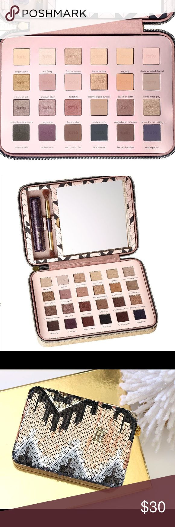 Tarte Holiday Palette 2015 Only a couple have been used but just barely! Beautiful colors just a little too big for me to carry around! (Does not include mascara) tarte Makeup Eyeshadow
