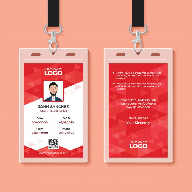 Employee Id Card Template Free Pdf Word Apple Pages Illustrator Publisher Employee Id Card Id Card Template Employees Card