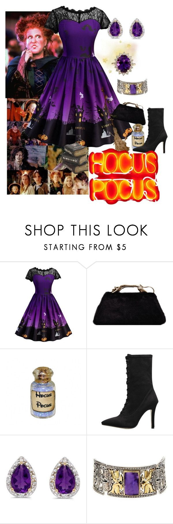 """""""Hocus Pocus"""" by sallytcrosswell on Polyvore featuring Dollhouse, Amanda Rose Collection, Konstantino, Halloween, wholesale and gamiss"""
