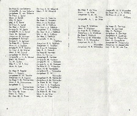 Groote Beer page - Passenger list 27 May 1955
