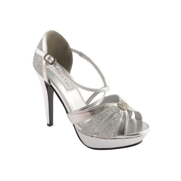Women's Touch Ups Stella ($67) ❤ liked on Polyvore featuring shoes, sandals, silver, silver sandals, platform sandals, silver strappy sandals, silver platform sandals and metallic sandals