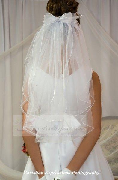 First Communion Wreath Veil V950 - Bridal Veils | First Communion Veils | Wedding Headpieces