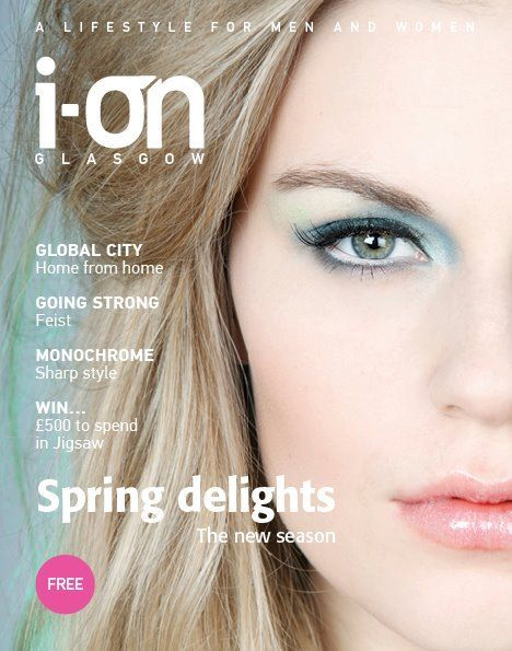 Front cover of Glasgow  I-on Magazine    Photographer: Susie Lowe  MUA: Mairi Gordon  Hair: Julie McGuire  Model: Emily B @ Superior