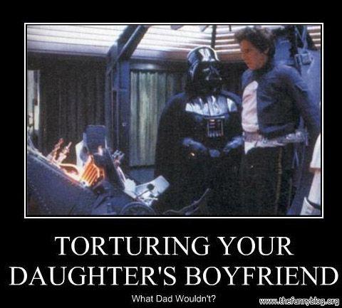 The real reason Darth Vader tortured Han Solo. #StarWars