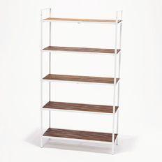 Living & Co Acacia Storage Shelf 5 Tier Wide