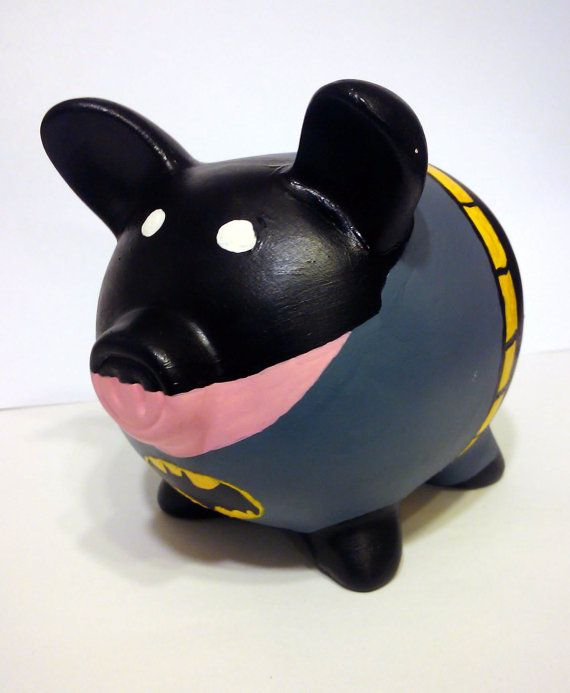 Super Hero Piggy Banks by IzzytasticOriginal on Etsy, $21.00