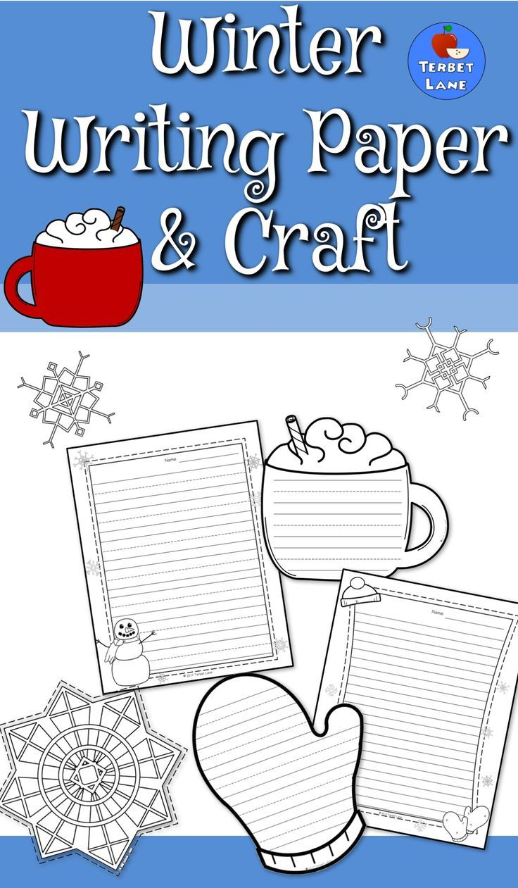 Winter themed creative writing paper and craft is a fun way to combine art and drawing with creative writing.   Includes  3 color and write simple, low prep writing crafts 3 different pull page writing sheets Each lined page is available in three options for lines; primary lines, wide rule, and narrow rule.