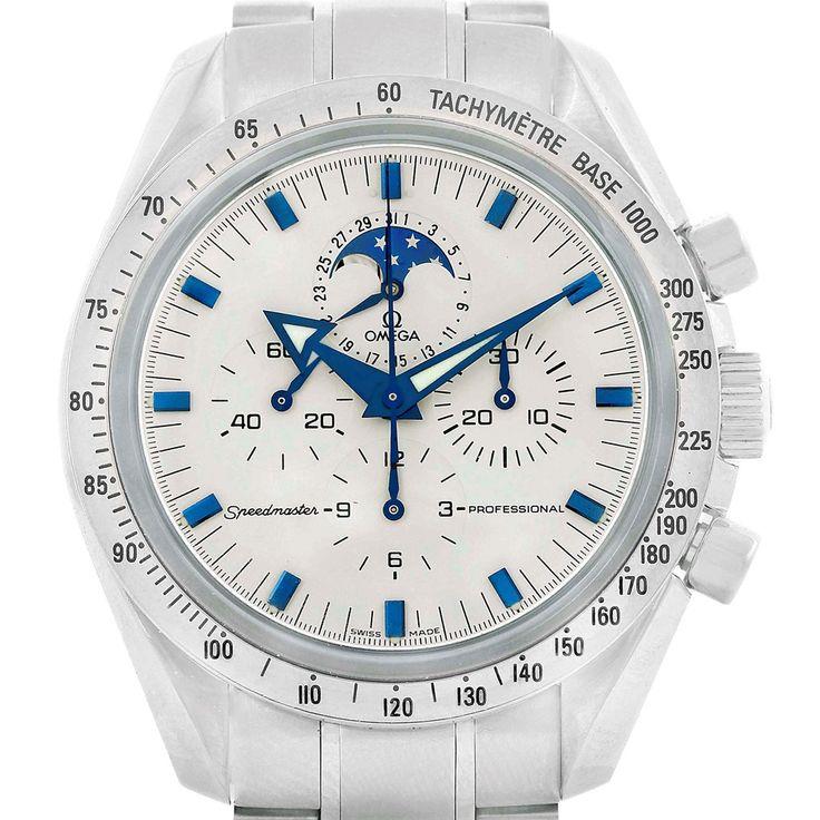 17113 Omega Speedmaster MoonPhase Broad Arrow Mens Watch 3575.20.00 SwissWatchExpo
