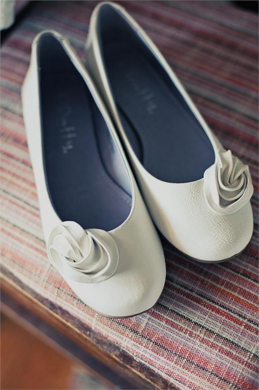 Vita låga skor med ros ballerina/vår/sommar/bröllop/fest/bal på Tradera.