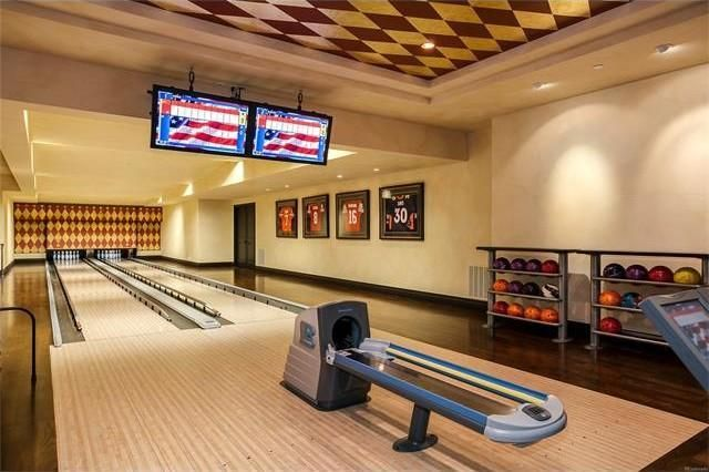 The two-lane regulation bowling alley