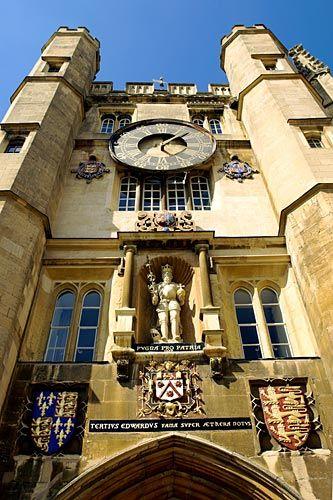 Chapel Entrance Trinity College Cambridge University