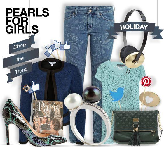 Pearls for girls - christmas holidays -shopthemagazine.com #gifts #girls #christmas