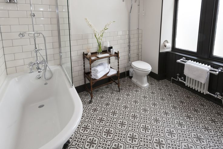 Victorian inspired modern bathroom with newly fitted roll top shower over bath, underfloor heated tiled floor and all the modern comforts that Firhall Guest House can offer! The Spey Room has all this to offer our guests during their stay.