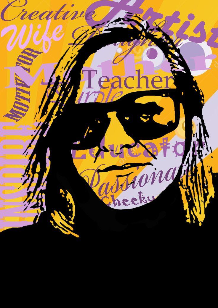 Example for pop art inspired portrait. Andrea Duregon