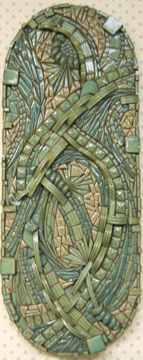 38 best images about mosaicos on pinterest handmade ceramic abstract mosaic wall art handmade ceramic tile currents via etsy by kathy thompson house of whispering fir dailygadgetfo Image collections