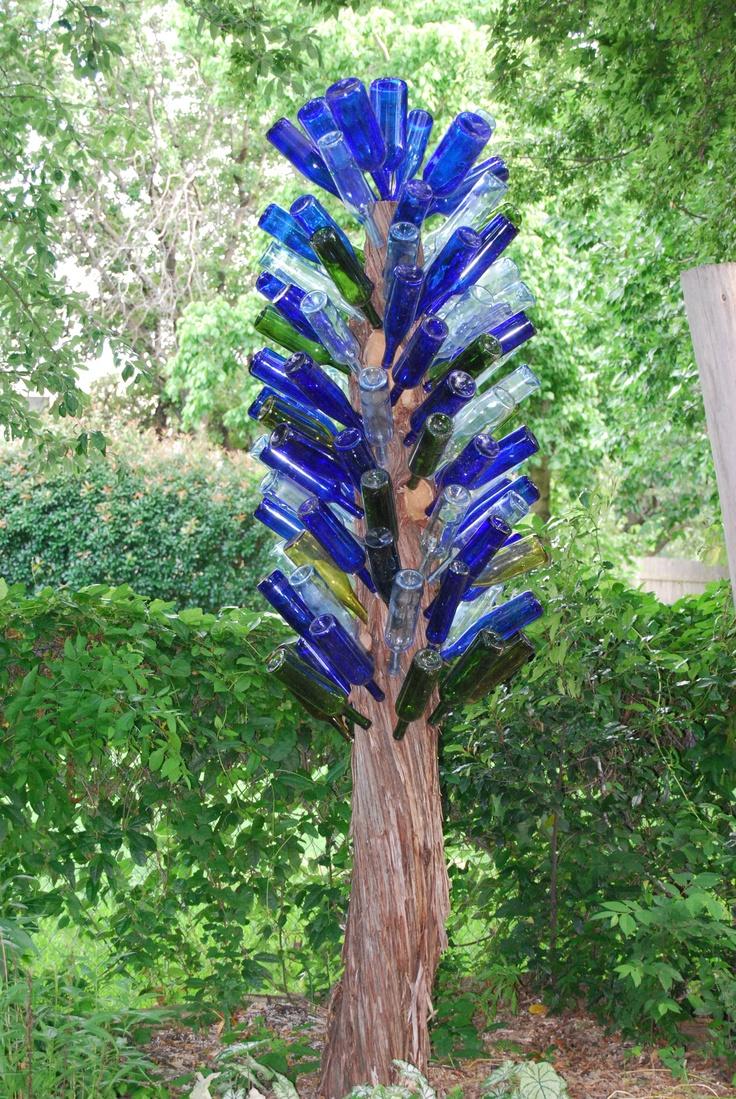 42 best bottle trees images on Pinterest | Wine bottles, Wine bottle ...