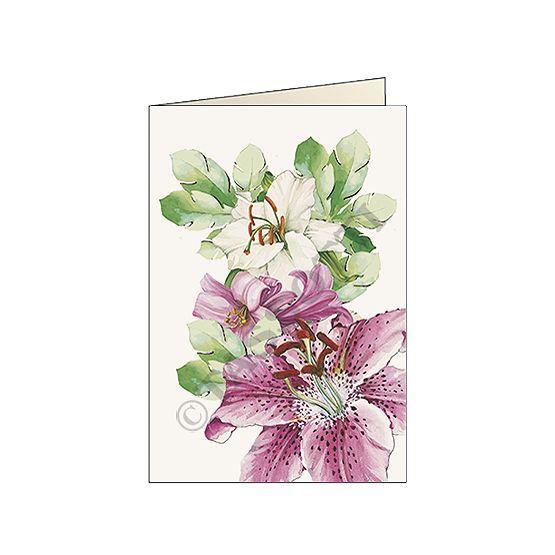 """Biglietto """"Gigli"""" - Card """"Lilies"""" 11,5x16,8 cm"""