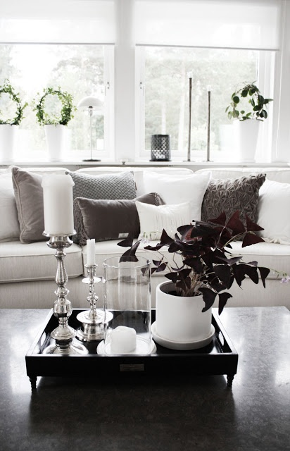 Sharp White Sofa In Black Living Room Decoration Cute Grey Set Up