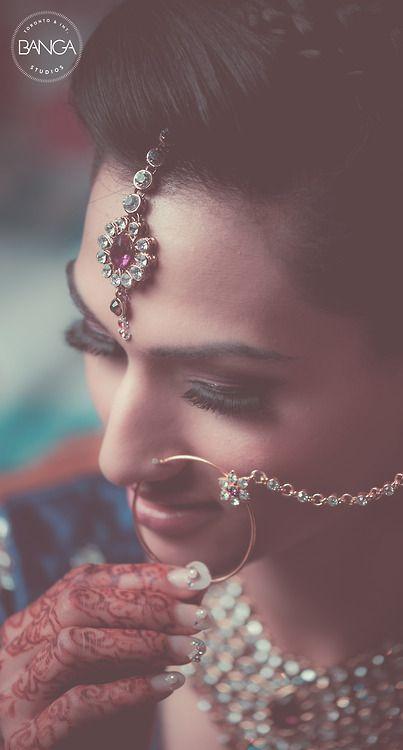 Beautiful Indian Bride | Photo by Banga. Indian wedding photography. Bridal photo shoot ideas.