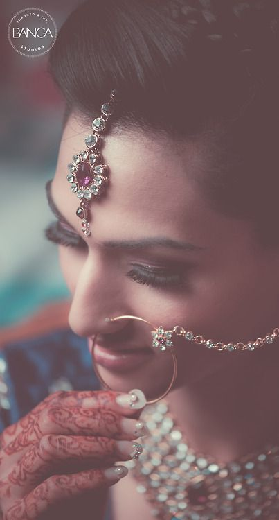 Beautiful Indian Bride | Photo by Banga. Indian wedding photography. Bridal photo shoot ideas.