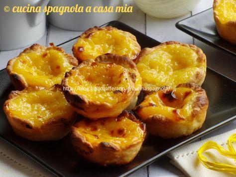 Pasteis de Belem o pasteis de nata, ricetta passo a passo per fare in casa i pasticcini portoghesi di Lisbona. Ingredienti e preparazione.