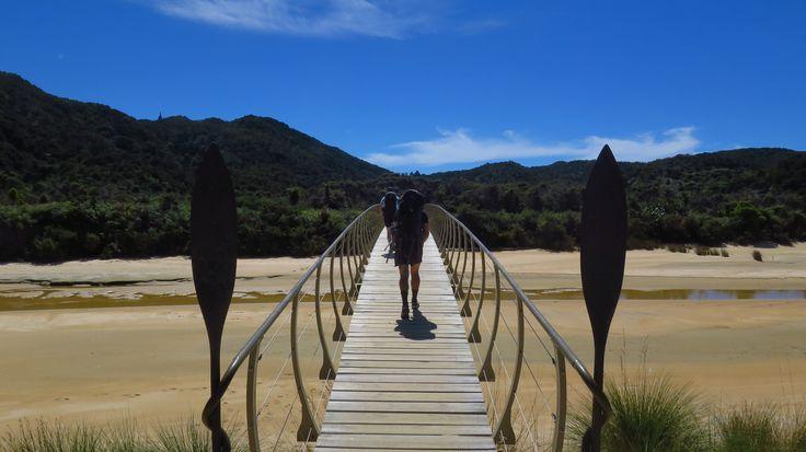 Onetahuti Beach estuary in Abel Tasman National Park