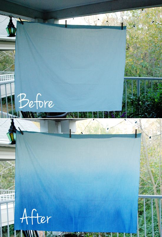 This site has an awesome method for ombre fabric...really cool!  I really want to do this with a cheap cotton duvet!