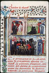 Apparition of Charles the Bald after his death and burial in Saint Denis.