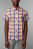 Fred Perry Slim Fit Short-Sleeved Madras Shirt. Spring Time.